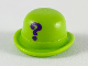 Part No: 95674pb04  Name: Minifigure, Headgear Hat, Bowler with Dark Purple Question Mark Pattern