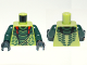 Part No: 973pb1189c01  Name: Torso Ninjago Snake with Dark Green and Red Scales Pattern (Lizaru) / Dark Green Arms / Black Hands