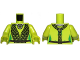 Part No: 973pb1224c01  Name: Torso Black Mesh Wrap Pattern (SW Oola) / Lime Arms / Lime Hands