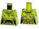 Part No: 973pb1967  Name: Torso Female Silver and Gold Space Armor with Green Dirt and Belt Buckle with Ultra Agent Toxic Pattern