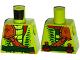Part No: 973pb2331  Name: Torso Ninjago Snake with Shoulder Pad and Dark Green Belt and Red Vials Pattern