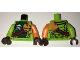Part No: 973pb2372c01  Name: Torso Ninjago Scales, Green Stomach, Ninja Skull with Crossed Swords, Shoulder Armor Pattern / Orange Arm Left / Lime Arm Right / Dark Brown Hands