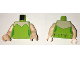 Part No: 973pb2430c01  Name: Torso Female Strapless Top with Light Flesh Neck Pattern / Light Flesh Arms / Light Flesh Hands