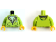 Part No: 973pb3202c01  Name: Torso Hoodie with Zipper and 'M' Pattern (LEGO Club Max) / Lime Arms / Yellow Hands