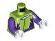 Part No: 973pb3756c01  Name: Torso Jacket with Dark Purple Flames and Belt Pattern / Dark Purple Arms / White Hands