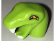 Part No: bb0662pb02  Name: Minifigure, Head Modified Snake Short Neck with Open Mouth with White Fangs and Bright Light Orange Eyes Pattern
