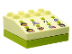 Part No: 42104cx02  Name: Duplo Sound Effects Brick 4 x 4 with Lime Base and Dora The Explorer Sounds