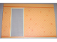 Part No: 6890pb04c04  Name: Scala Wall, Vertical Grooved 40 x 2 x 22 2/3 with Door, with Orange Wallpaper Pattern