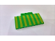 Part No: 15625pb023  Name: Slope, Curved 5 x 8 x 2/3 with Lime Stripes Pattern