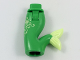 Part No: 16529c00pb03  Name: Tail, Mini Doll Friends Mermaid Hips and Tail Assembly with Light Green Tip, Star and Filigree Pattern
