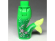 Part No: 16529c00pb04  Name: Tail, Mini Doll Friends Mermaid Hips and Tail Assembly with Light Green Tip,  Stars and Filigree Pattern on Front