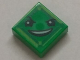 Part No: 3070bpb112  Name: Tile 1 x 1 with Groove with Face with Raised Eyebrow and Fiendish Smile (Kryptomite) Pattern