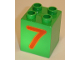 Part No: 31110pb027  Name: Duplo, Brick 2 x 2 x 2 with Number 7 Red Pattern