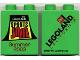 Part No: 4066pb146  Name: Duplo, Brick 1 x 2 x 2 with Sports Jam Summer 2003 Pattern