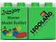 Part No: 4066pb203  Name: Duplo, Brick 1 x 2 x 2 with Junior Master Model Builder 2005 Pattern