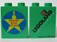 Part No: 4066pb222  Name: Duplo, Brick 1 x 2 x 2 with Legoland Block of Fame Pattern