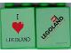 Part No: 4066pb272  Name: Duplo, Brick 1 x 2 x 2 with I Love Legoland 2006 Pattern (Stickered)