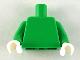 Part No: 973c85  Name: Torso Plain / Bright Green Arms / White Hands
