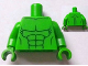 Part No: 973pb1179c01  Name: Torso Bare Chest with Body Lines Both Sides Pattern (Hulk) / Bright Green Arms / Bright Green Hands