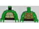 Part No: 973pb1363c01  Name: Torso Turtle Shell with Dark Brown Horizontal Belt Pattern / Bright Green Arms / Bright Green Hands