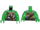 Part No: 973pb1667c01  Name: Torso Turtle Shell with Gauge and Purple Diving Bottles Pattern / Bright Green Arms / Bright Green Hands