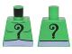 Part No: 973pb2253  Name: Torso Batman Black Question Mark on Chest and Back and Lavender Belt Pattern