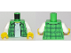 Part No: 973pb2914c01  Name: Torso Plaid Flannel Shirt Female over White T-Shirt Pattern / White Arms / Yellow Hands