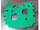 Part No: bb0930  Name: Foam, Scala Bush with Cutouts and 3 Holes #3159