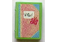 Part No: 33009pb021  Name: Minifigure, Utensil Book 2 x 3 with Diary and Butterfly Pattern (Stickers) - Set 3242