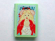 Part No: 33009pb024  Name: Minifigure, Utensil Book 2 x 3 with Girl in Hat and Jacket Pattern (Sticker) - Set 3201