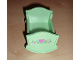 Part No: 4908pb02  Name: Duplo, Furniture Cradle (Belville Baby Crib) with 3 Dark Pink Hearts and Green Vine Pattern (Sticker) - Set 5860