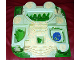 Part No: 33214pb02  Name: Baseplate, Raised Belville Castle with Yellow Cobblestone and Green Ivy Pattern