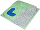 Part No: 6092px2  Name: Baseplate, Raised 32 x 32 Three Level with Stone Ramp and Blue Pool Pattern