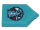 Part No: 22385pb212  Name: Tile, Modified 2 x 3 Pentagonal with Rock Raiders Drill Logo Pattern (Sticker) - Set 71741