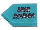 Part No: 22385pb213  Name: Tile, Modified 2 x 3 Pentagonal with Red and White Ninjago Logogram 'Rock Raiders' Pattern (Sticker) - Set 71741