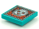 Part No: 3068bpb1548  Name: Tile 2 x 2 with Groove with BeatBit Album Cover - Skull with Red Eyes and Tongue Pattern