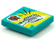 Part No: 3068bpb1562  Name: Tile 2 x 2 with Groove with BeatBit Album Cover - Vintage Microphone Pattern