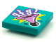 Part No: 3068bpb1602  Name: Tile 2 x 2 with Groove with BeatBit Album Cover - Medium Lavender Bulb Horn Pattern