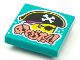 Part No: 3068bpb1639  Name: Tile 2 x 2 with Groove with BeatBit Album Cover - Pirate Head Pattern