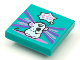 Part No: 3068bpb1640  Name: Tile 2 x 2 with Groove with BeatBit Album Cover - Singing Mouse Pattern