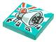 Part No: 3068bpb1642  Name: Tile 2 x 2 with Groove with BeatBit Album Cover - Megaphone Loudhailer Space Gun Pattern