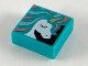 Part No: 3070bpb135  Name: Tile 1 x 1 with Groove with Unicorn Head and Manes Pattern