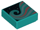 Part No: 3070bpb136  Name: Tile 1 x 1 with Groove with Swirl Pattern (Unicorn Manes)