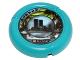 Part No: 32171pb019  Name: Throwbot Disk, Turbo / City, 2 pips, city skyline logo Pattern
