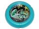 Part No: 32171pb020  Name: Throwbot Disk, Turbo / City, 3 pips, Turbo throwing disk Pattern
