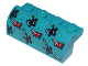 Part No: 6081pb030  Name: Slope, Curved 2 x 4 x 1 1/3 with Four Recessed Studs with Bedspread with Red and Black Ninjas Pattern (Sticker) - Set 71741