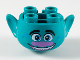 Part No: 65461pb02  Name: Minifigure, Head Modified Trolls Branch Pattern