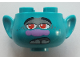 Part No: 65461pb09  Name: Minifigure, Head Modified Trolls Branch with Red Pupils Pattern