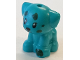 Part No: 69901pb05  Name: Dog, Friends, Puppy, Standing, Small with Dark Green Paw and Spots Pattern