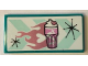 Part No: 87079pb0872  Name: Tile 2 x 4 with Bright Pink Milkshake and Heart Pattern (Sticker) - Set 41349